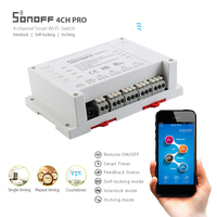 Sonoff 4CH Pro Smart Home RF Light 4 Gang 3 Working Modes Inching Interlock Home Automation