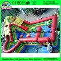 Jogo de crianças parque de diversões inflável, cidade inflável do divertimento, slide bouncer de salto inflável