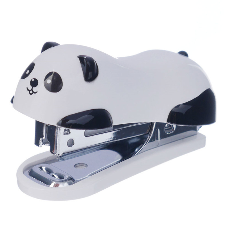 1 Pcs Kawaii Cartoon Panda Small Stapler Office School Supplies Stationery Paper Clip Binding Binder Drop Shipping