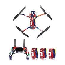Garde de couverture de peau de décalque dautocollants imperméables colorés de PVC pour DJI MAVIC 2 Pro bourdonnement corps de Drone/bras et accessoire de télécommande