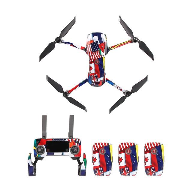 Renkli su geçirmez PVC çıkartmalar çıkartma kaplama yüzey koruma DJI MAVIC 2 Pro ZOOM Drone vücut/kol ve uzaktan kumanda aksesuarı