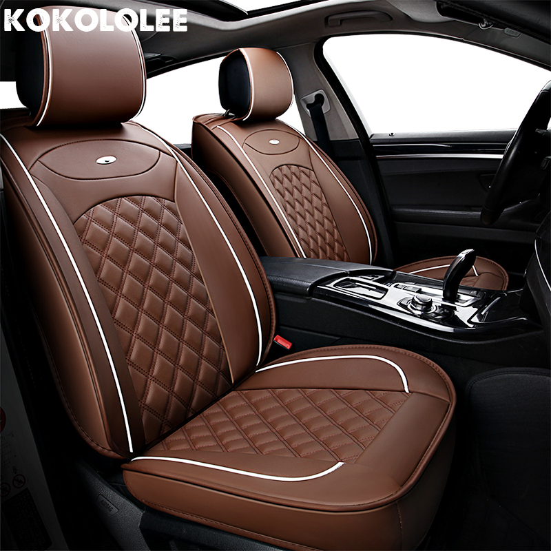 [KOKOLOLEE] PU Leather Car Seat Cover for Mitsubishi pajero outlander asx colt evolution galant grandis l200 lancer 10 9 x evo