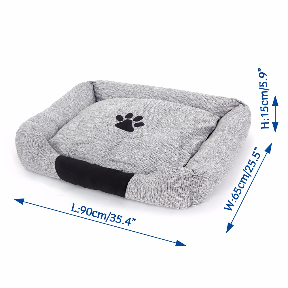 Pet House Super Soft Warm Size Large Dog Kennel Sleeping Bed With Detachable Cushion Mat High Quany Cotton Sofa Nest In Houses Kennels Pens