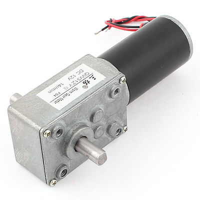 цена на GW31ZY DC 12V 14RPM 8mmx13mm Double Shaft Worm Geared Motor