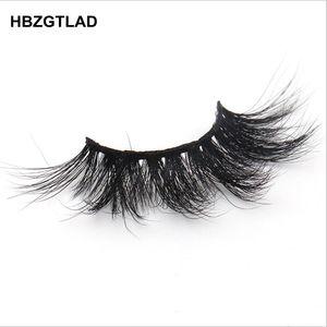 Image 4 - HBZGTLAD 100% rzęsy z norek extra length 22 25mm rzęsy 3D rzęsy duże dramatyczne volumn rzęsy Crisscross sztuczne rzęsy L95