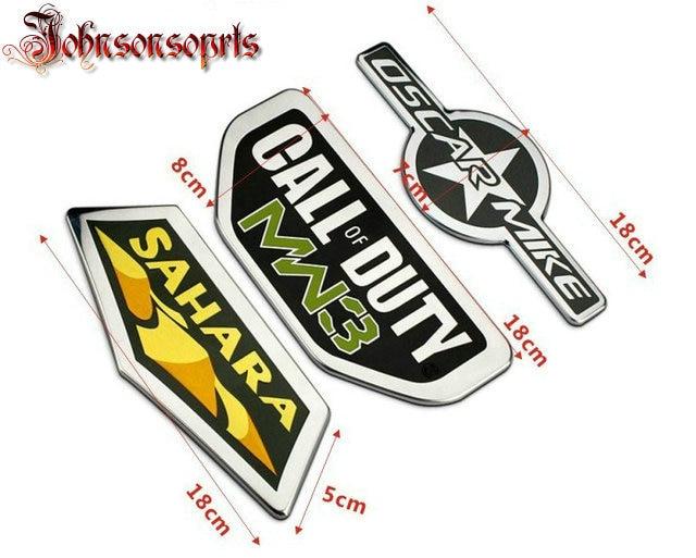 Free shipping Call Of Duty Warfare MW3 / SAHARA / OSCAR MIKE Emblem GENUINE MOPAR OEM sticker car-styling call of duty modern warfare remastered [ps4]