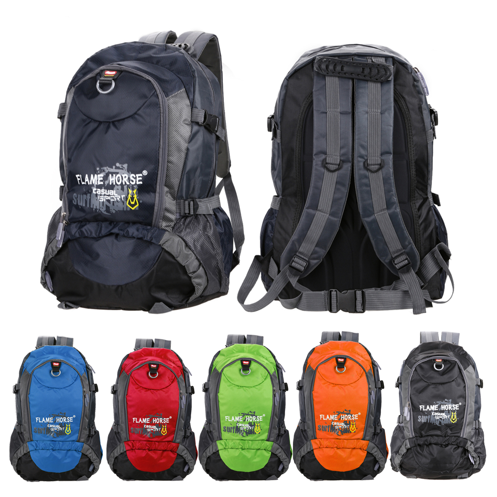 1pcs 30L Nylon Sport Bag Backpack Outdoor Climbing Rucksack Waterproof Mountaineering Hiking Backpacks Molle Camping Bag 6 Color