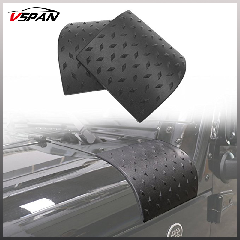 2pcs High Quality Black Cowl Body Armor Outer Cowling Cover for Jeep Wrangler Rubicon Sahara JK 07-17 & Unlimited T2J2 Offroad цены