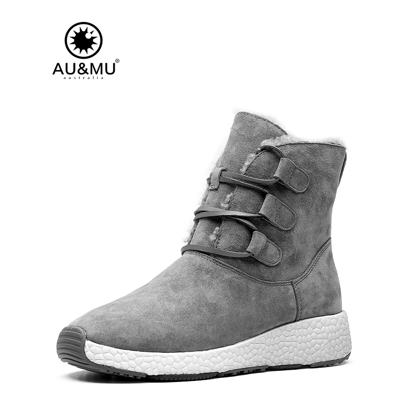 2018 AUMU Australia Suede Lace Up Winter Boots NY091