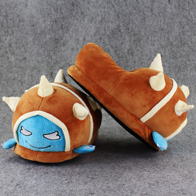1 Pair 27cm Rammus indoor Slippers Plush Shoes Warm Winter Adult Slipper Toy Christmas Gift