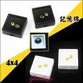Hot Sale 24pcs/lot 4cm x 4cm Jewelry Diamond Display Box Square Plastic Diamond Case Stone Box Gem Storage Box Black and White