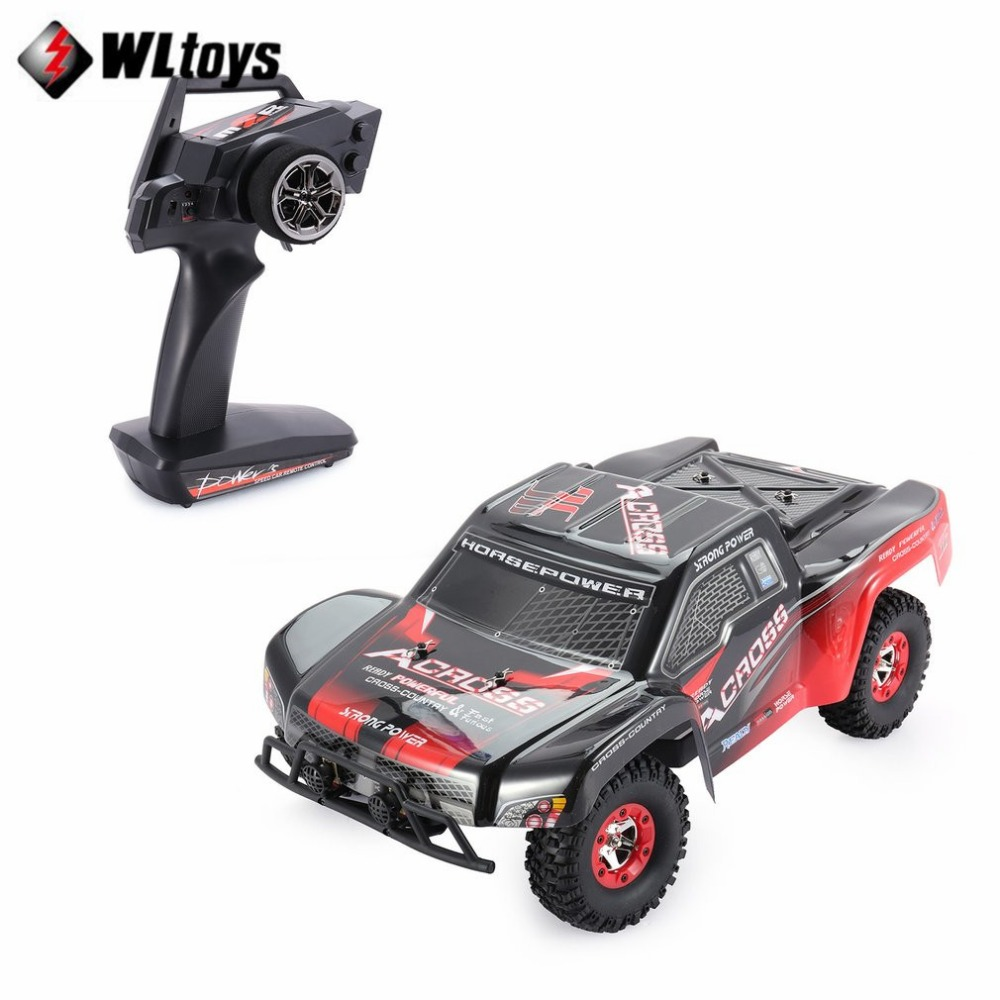 Wltoys 12423 1/12 2.4G 4WD High speed Electric Brushed Short Course Off-Road Buggy Vehicle RTR RC Car with LED Light fi цена