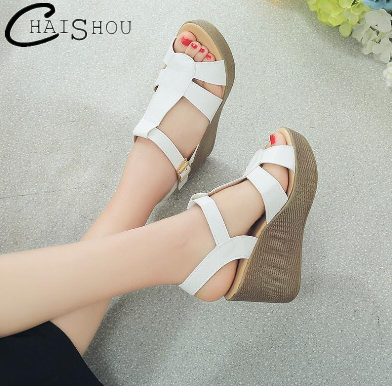2018 summer women Wedges sandals fashion high heels shoes women Comfort buckle platform shoes woman open toe dress shoes U448 vtota 2017 fashion wedges women sandals bling summer shoes woman platform sandalias soft leather open toe casual women shoes r25
