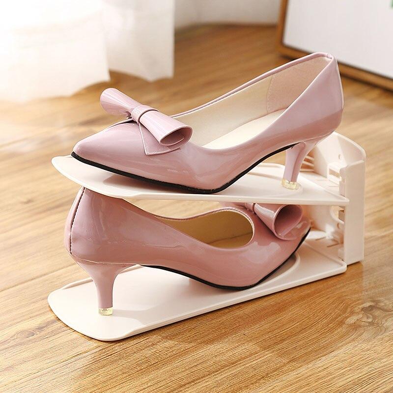 Offer  Shoe Organizer Shoes Rack Plastic Shoemaker Adjustable Shoe Storage Organizers for Women High Heels