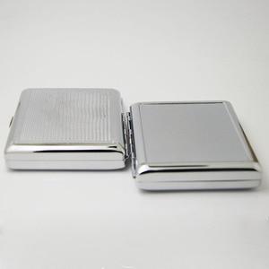 Image 4 - 4Pcs  Blank 20 Cigarette Box Case Stainless Steel Tobacco Tube Storage Pocket Box Holder Handy Portable DIY  Free Shipping