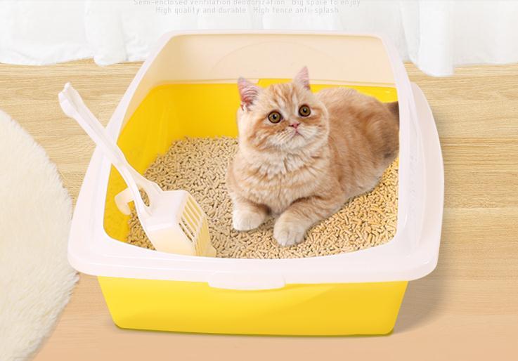 Полузакрытыми кошачьих туалетов коробка кошачий Туалет 48*38*18 см