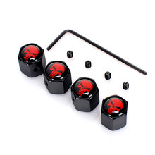 hot deal buy dsycar 4pcs/set car auto wheel tyre tire stem air valve caps dust covers skull for car/motorcycle,air leakproof