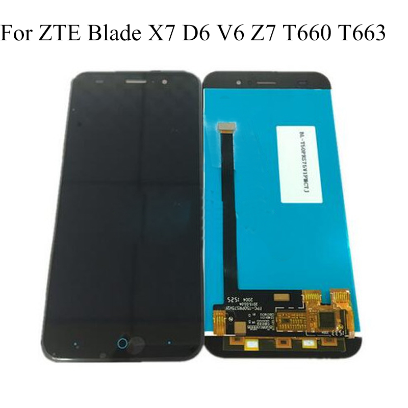 For <font><b>ZTE</b></font> Blade X7 D6 V6 Z7 <font><b>T660</b></font> T663 LCD Screen 100% Original LCD Display +Touch Screen Assembly Replacement Smartphone image