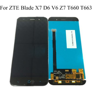 For ZTE Blade X7 D6 V6 Z7 T660 T663 LCD Screen 100% Original LCD Display +Touch Screen Assembly Replacement Smartphone