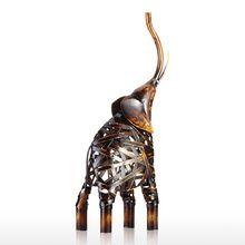 African Elephant Iron Home Sculpture