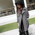 Comercio al por mayor 2016 nuevas mujeres de invierno chaqueta abrigo de las mujeres chaquetas y abrigos de invierno a cuadros Negro feminina jaqueta casaco feminino