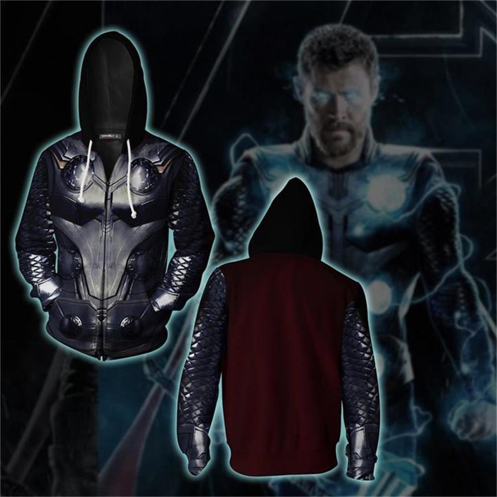 The Avengers Thor Odinson Latest Men 3D Printed Sweatshirts Hoodies Superhero Cosplay Costume Pullover Male Hooded Autumn Hoody
