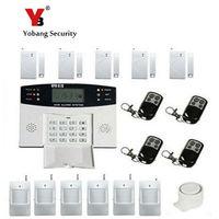 YobangSecurity Wireless Wired GSM SMS Home Security Burglar Alarm System Intercom Smoke Fire Sensor Russian French Spanish Voice