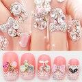 10Pcs/lot 3D Alloy Glitter Rhinestone DIY Decorations Nail Art Tips Stickers 4BNB