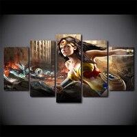 HD Baskılı comics wonder woman tuval üzerine Boyama odası dekorasyon baskı posteri resim tuval toptan drop shipping