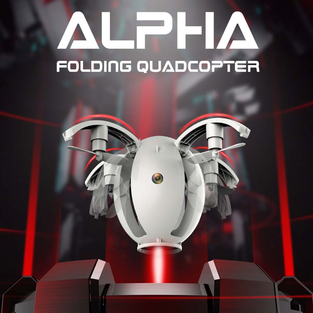 Kai Deng K130 ALPHA RC Drone with Camera 2.4GHZ 4CH RC Helicopter 6-Axis gyro RC Quadcopter Folding Transformable Egg Drone mini rc drone 2 in 1 transformable rc quadcopter car rtf 2 4ghz 6ch 6 axis gyro helicopter multi functional outdoor toys