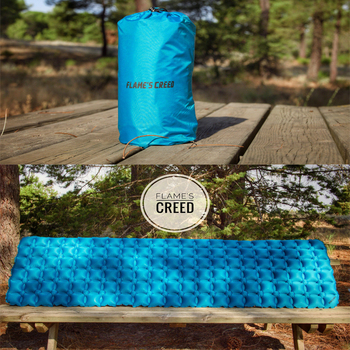 FLAME'S CREED  Inflatable Bed for Tent Portable Ultralight Sleeping Pad Air Bed Moistureproof Pad Waterproof Outdoor Camping Mat