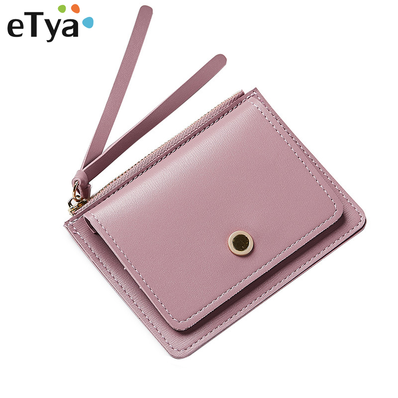 Women PU Leather Zipper Wallet Fashion Lady Portable Multifunction Small Solid Color Change Purse Hot Female Clutch Coin Purse fashion colorful lady lovely coin purse solid golden umbrella clutch wallet large capacity zipper women small bag cute card hold