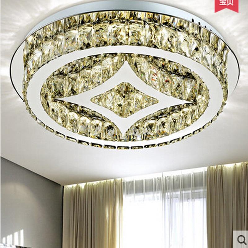 New round LED ceiling lamp modern crystal ceiling lights cystal light LED luminare for bedroom reading room light