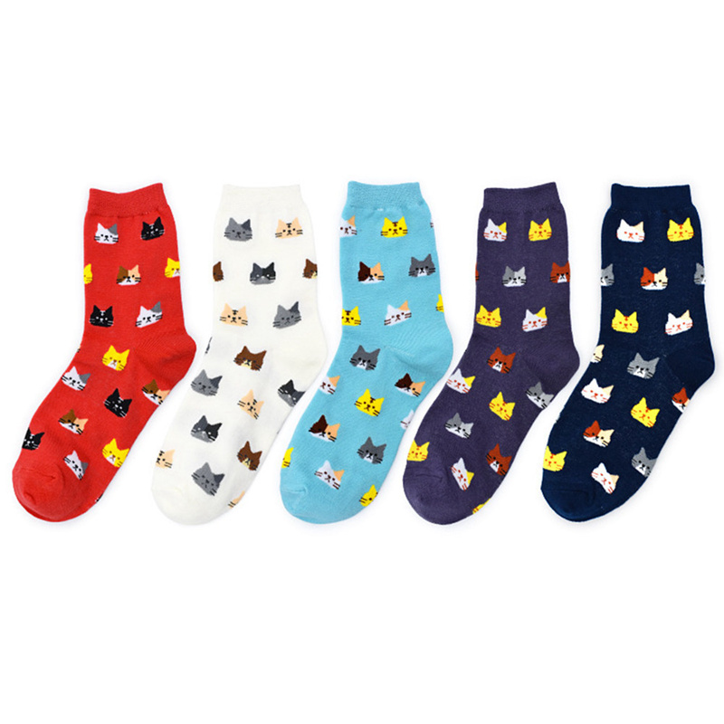 Fashion Spring New Sock High Quality Animal Cartoon Cat Lovely For Women Cotton Socks