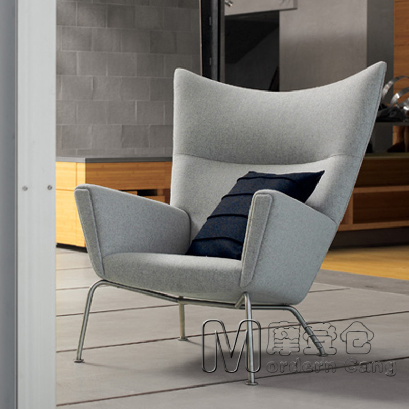 Modern Warehouse Wing Chair Wing Wing Chair Fashion Fabric Armchair  Recliner Chair Casual Lunch On Aliexpress.com | Alibaba Group