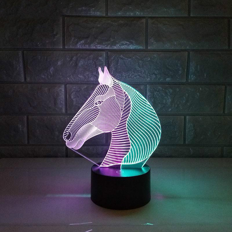 Led Table Lamps Led Lamps Horse Colorful Rgb Novelty 3d Led Lamp Luminaria De Mesa 3d Light Fixtures Luminaria Led Gife Desk Lamp Usb Powe Night Light