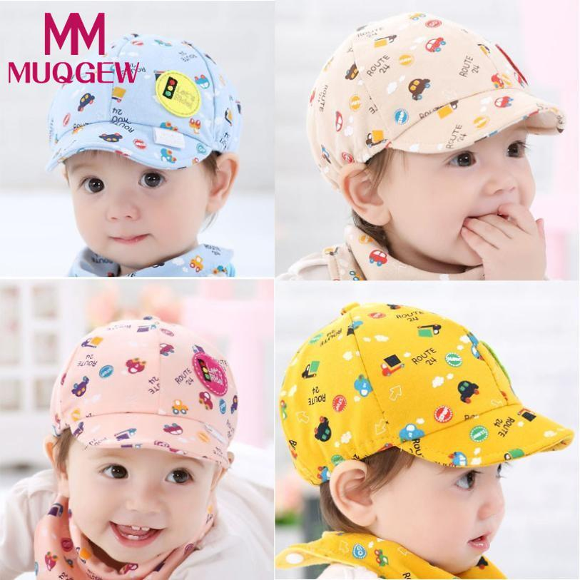 MUQGEW 2018 Hot Sale Baby Hat Kid Boy Girl Toddler Infant Hat Little Car Baseball Hat Summer Beret Caps