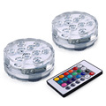 2pcs New Underwater Wireless Remote Control Led Multi Color Spotlight Multi Color Submersible 10LED Light Waterproof Party Lamp