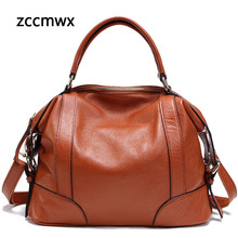 Zccmwx Real Leather Ladies Handbag Bag Tote Shoulder High Quality Designer Luxury Brand