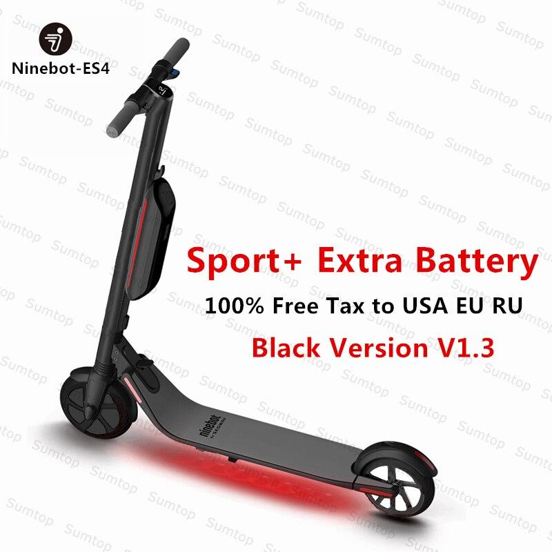 D'origine Ninebot KickScooter ES4/ES2 Smart Électrique Scooter 2 roue pliable long hover bord Kick Scooter hoverboard planche à roulettes