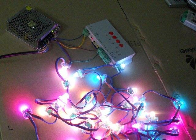 100pcs 5V WS2811 pixel nodes+T-1000S sd card controller+5V/60W power supply