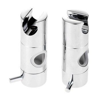 цена на Hand Held Shower Head Holder For 22mm 25mm Tube Shower Rail Bracket Slider Bar Adjustable Sprayer Holder Shower Rod Replacement