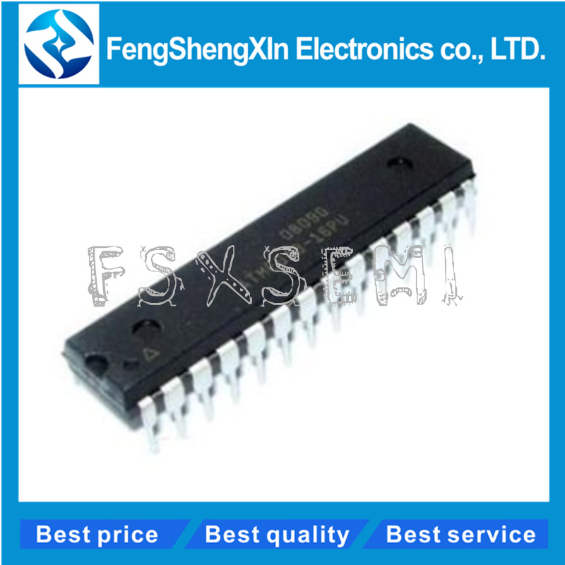 5 шт./лот ATMEGA8 ATMEGA8-16PU DIP-28 8-битная с 8K байтами встроенной программируемой вспышкой