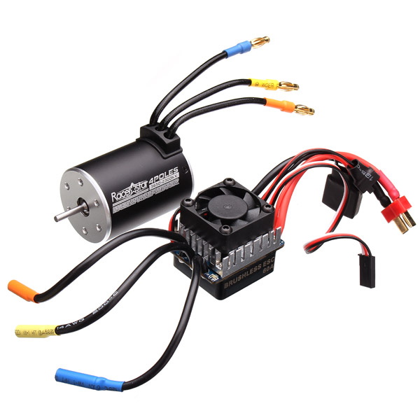 Racerstar 3650 Sensorless Brushless Waterproof Motor 60A ESC For 1/10 Monster Truck Truggy Cars цены онлайн
