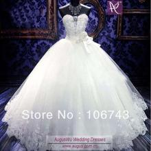 SexeMara White Tulle ball gown Luxury crystal baded dress