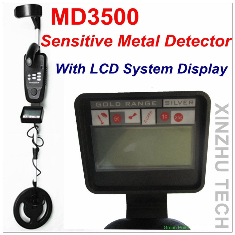 New Arrival MD3500 Underground Metal Detector Gold Detector MD-3500 Sensitive Metal Detector With LCD System Display fast shipping underground metal detector for gold coins md 3500 md3500