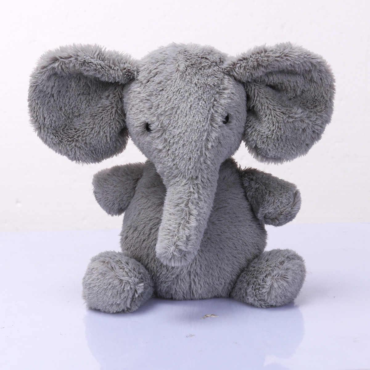 1PC かわいい枕象子供ソフトスタッフぬいぐるみ人形ロング鼻腰椎クッション姉妹リトルぬいぐるみ象のおもちゃ