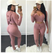 ZOGAA 2Pcs Set Sexy Gym Tights Fitness women Set Knitting Workout Long Sleeve Workout Outfits with Hats Ropa Deportiva Mujer