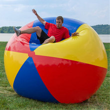 Giant Colorful Beach Volleyball Inflatable Beach Ball Swimming Pool Inflated Toy Balls Summer Holiday Outdoor Fun Hot Toys(China)