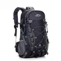 LOCAL LION Outdoor Waterproof Hiking Backpack 40L,Ventilated Women Men Camping Travel Bag ,Molle Trekking Climbing Bag Rucksack